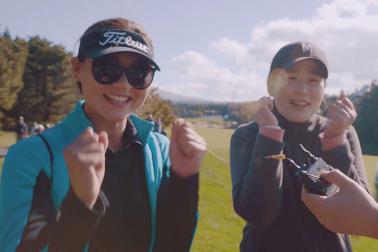 THE CJ CUP @  NINE BRIDGES Cheering video