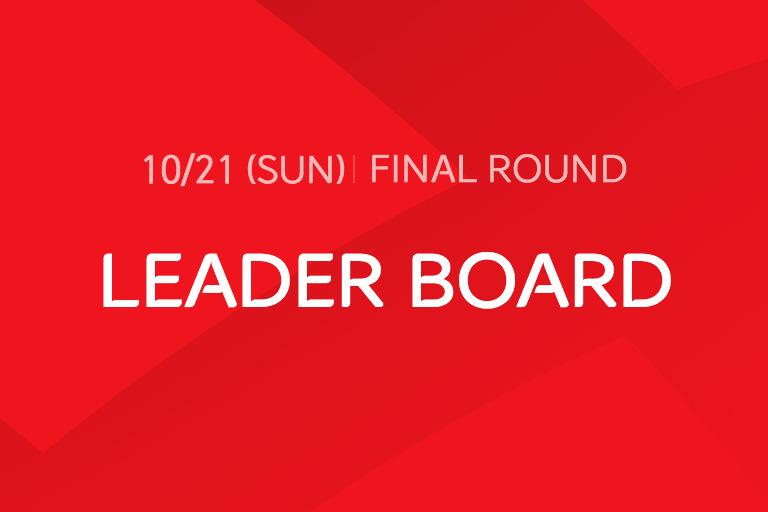 [2018 Final Round] LEADER BOARD