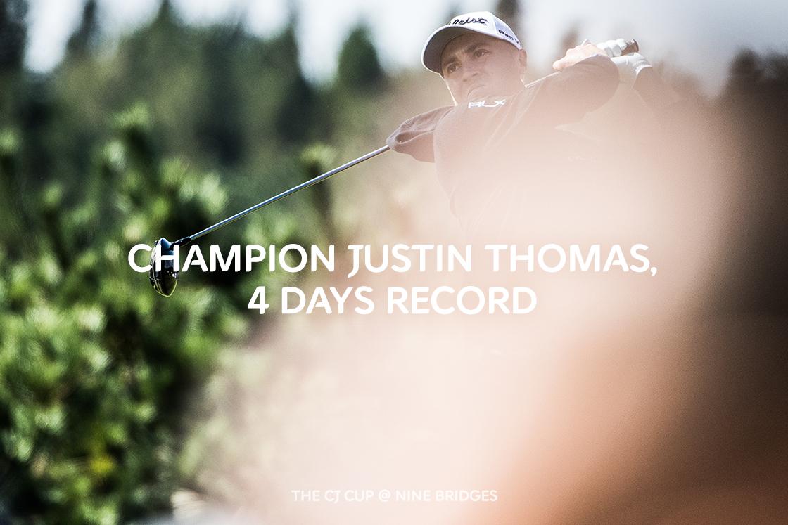 Champion Justin Thomas, 4 Days Record