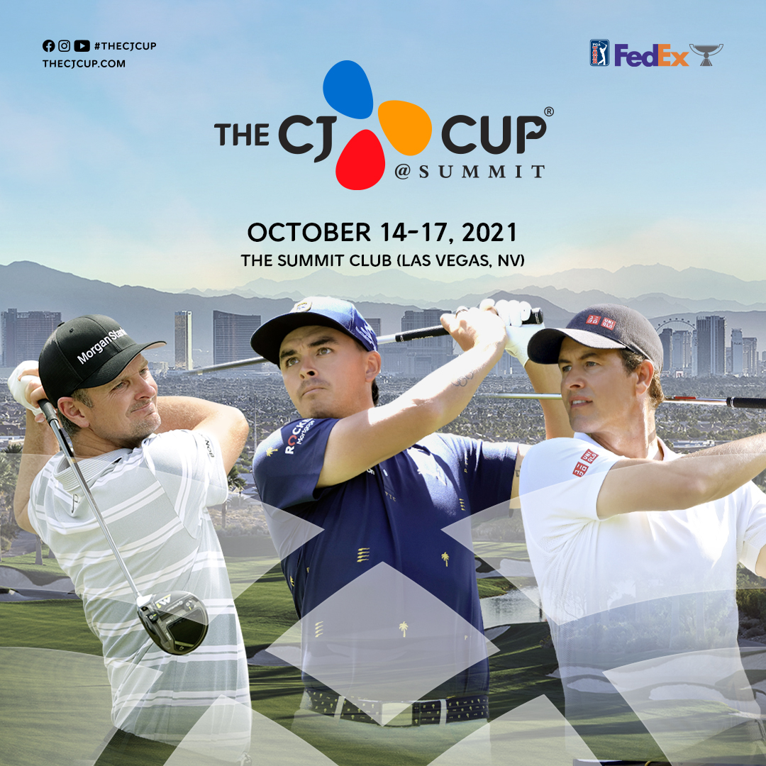 2018 FedExCup Champion Justin Rose,  Rickie Fowler, and Adam Scott will compete  in 2021 THE CJ CUP