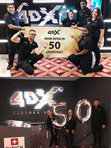 CGV 4DX, 전 세계 50개국 진출 목표 달성