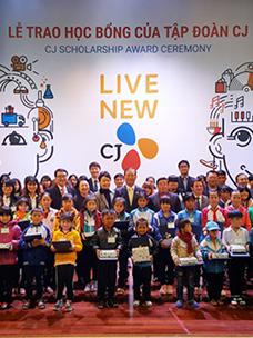 CJ그룹, 베트남 소외계층 청소년에게 장학금 전달