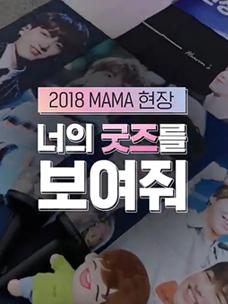 [2018 MAMA] 2018 MAMA 현장에 일본 팬이 가져온 굿즈는?