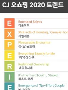 CJ ENM 오쇼핑부문이 서울대 소비트렌드분석센터와 공동으로 '2020 소비트렌드 10대 키워드'를발표했다.