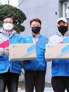 CJ대한통운 블루택배 배송원들