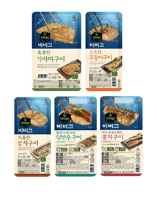 CJ제일제당 비비고 생선구이 5종 제품